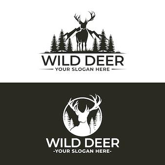 Wild deer logo sjabloon