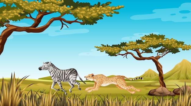 Wild dier loopt in de natuur