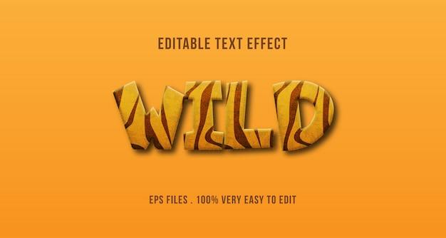 Wild dier print tekst effect