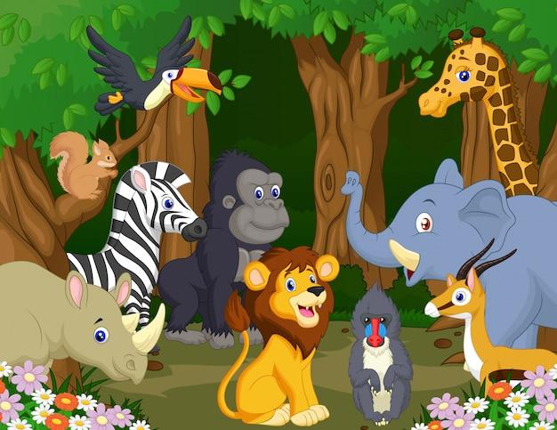 Wild dierlijk beeldverhaal