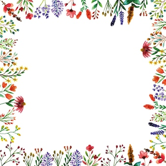 Wild flower frame decoraties van de lente