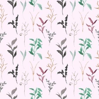 Wild gras aquarel naadloze patroon