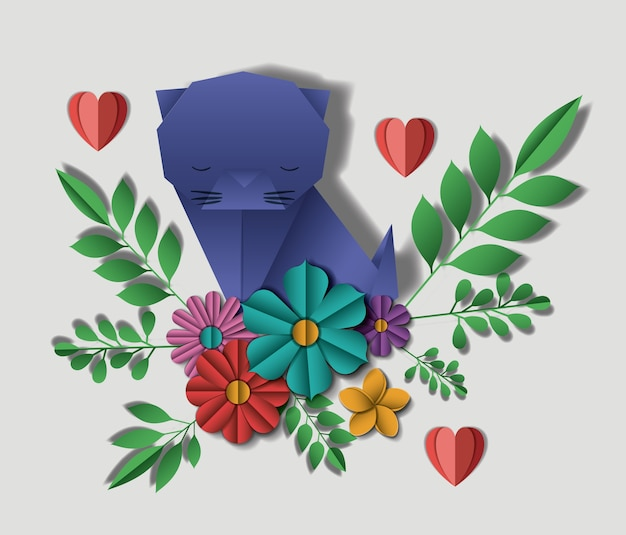 Wild life digital crafts in florale decoratie