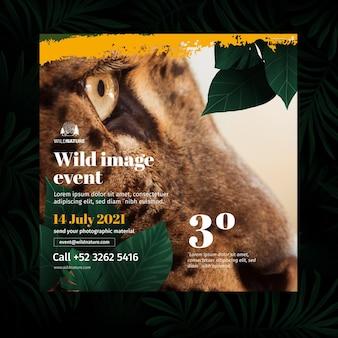 Wild natuur flyer vierkant