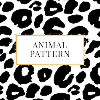 Wild print zwart-wit luipaardpatroon