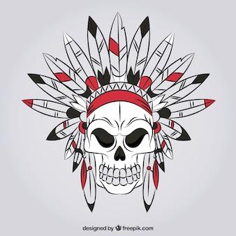Wild schedel met de hand getekende plaques