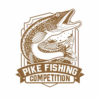 Wild strong pike fishing tournament