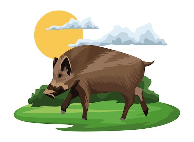 Wild tapirdier in het kamplandschap