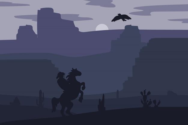 Wild west-landschap