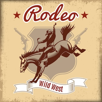 Wild west rodeo-sjabloon