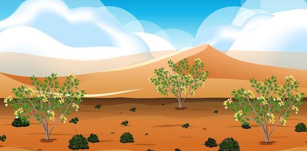 Wild woestijnlandschap bij scène overdag