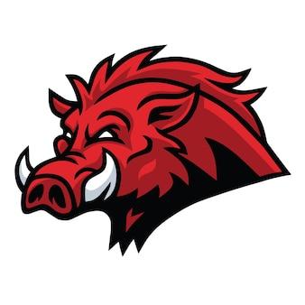 Wild zwijn hoofd esport sport mascotte logo vector design