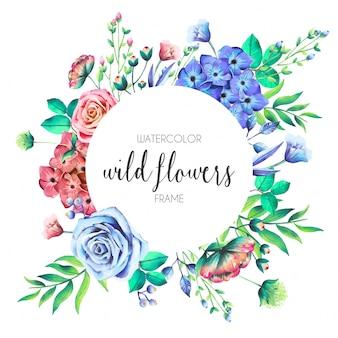 Wilde bloemen frame