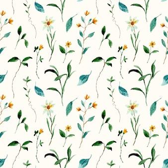 Wilde bloemen weide aquarel naadloze patroon