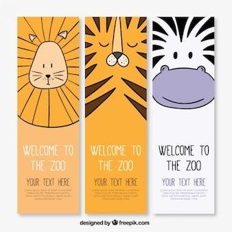 Wilde dieren banners