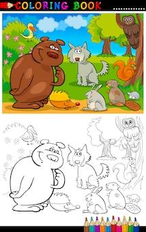 Wilde dieren om te kleuren