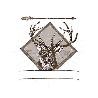 Wilde herten logo illustratie
