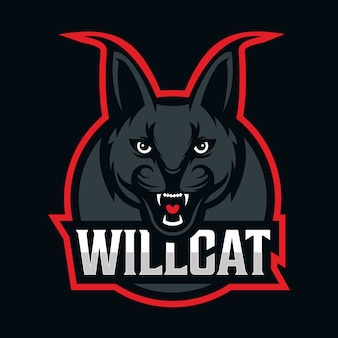 Wilde kat mascotte logo