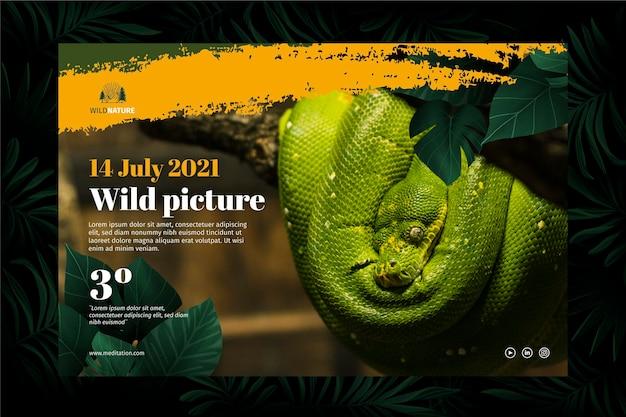 Wilde natuur banner concept