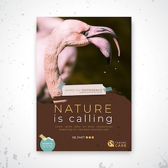 Wilde natuur folder sjabloon