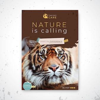 Wilde natuur poster sjabloon