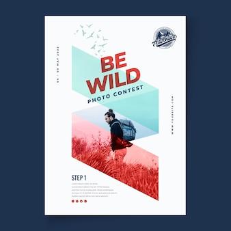 Wilde natuur verticale poster sjabloon