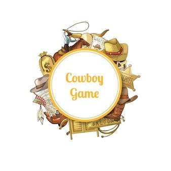 Wilde westen cowboy elementen