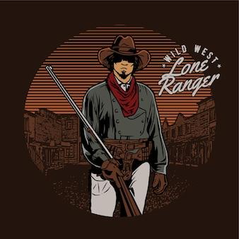 Wilde westen cowboy