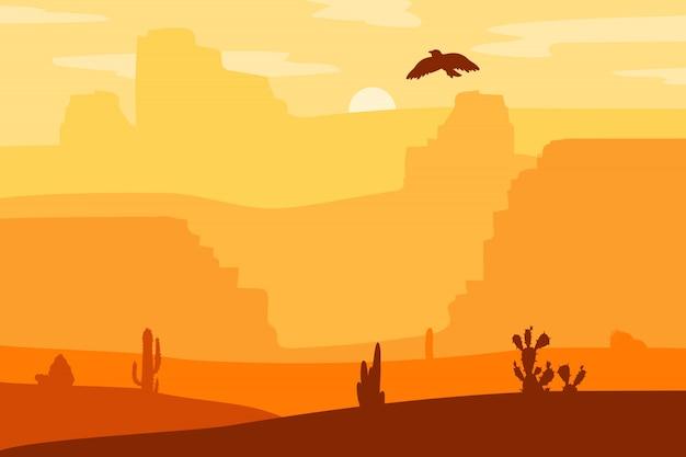 Wilde westen landschap