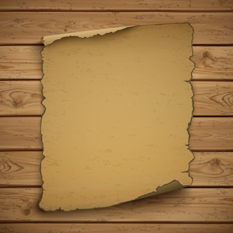 Wilde westen lege grunge oude poster op houten planken.
