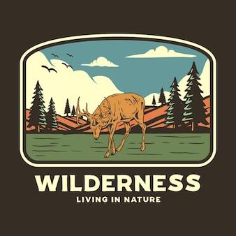 Wilderness grafische illustratie