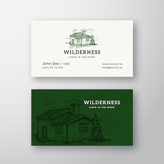 Wildernis hout abstract vintage logo
