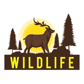 Wildlife herten illustratie