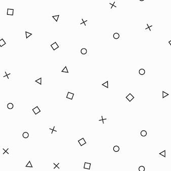 Willekeurig patroon met geometrische vormen, abstracte achtergrond. geometrische eenvoudige illustratie. creatieve en luxe stijl