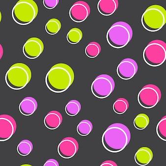 Willekeurig stippenpatroon, abstracte geometrische achtergrond in retrostijl van de jaren 80, 90. kleurrijke geometrische illustratie