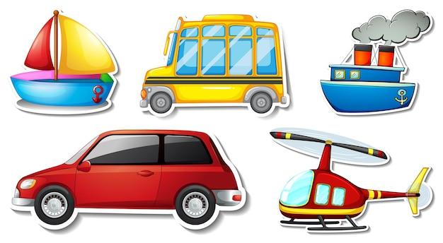 Willekeurige stickers met verplaatsbare voertuigvoorwerpen