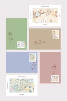 William morris patroon briefkaart vector