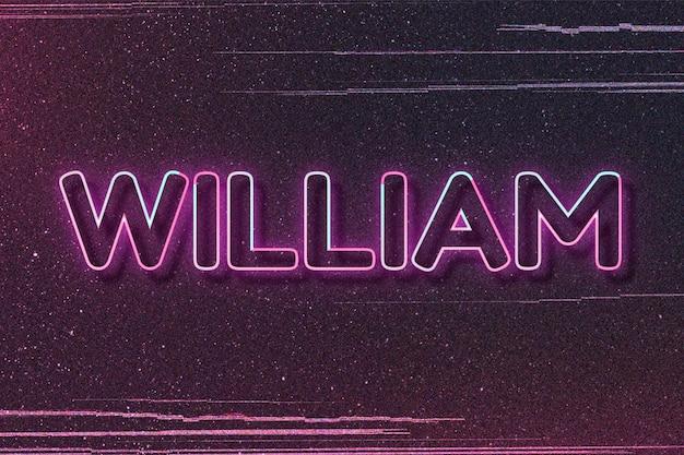 William naam lettertype blokletter typografie