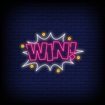 Win neonreclame
