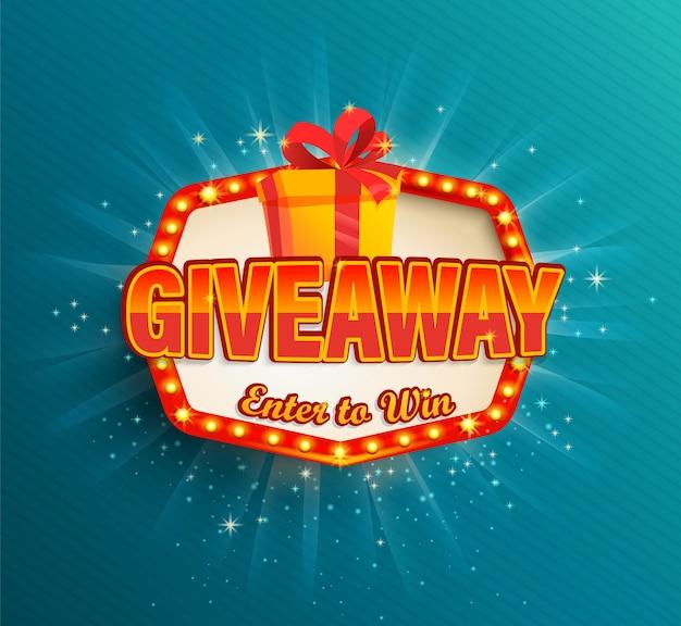 Win poster met geschenkdoos