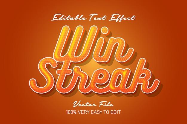 Win strean honing stijl vers teksteffect