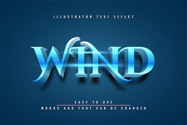 Wind - bewerkbaar teksteffectontwerp