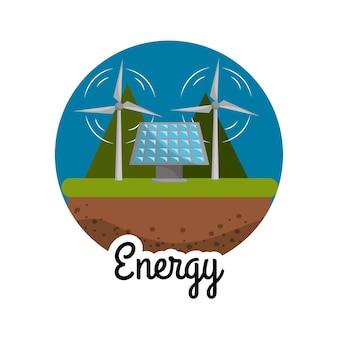 Windkracht en energie zonne-energie naar zorgomgeving