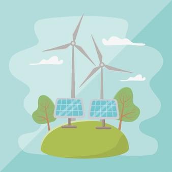 Windmolen en bespaar energie