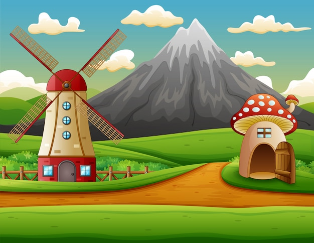 Windmolenbouw en het paddestoelhuis