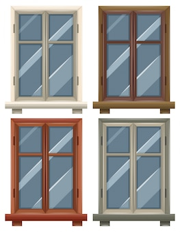 Windows met vier frames