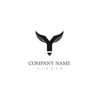 Wings-logo met y-initiaal