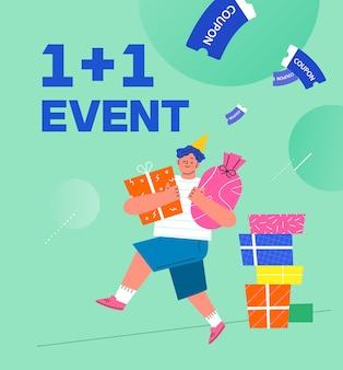 Winkel evenement illustratie banner