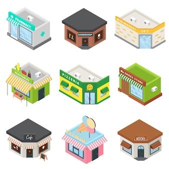 Winkel gevel pictogrammen winkelen instellen