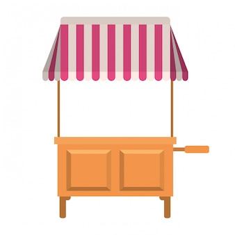 Winkel kiosk geïsoleerde pictogram